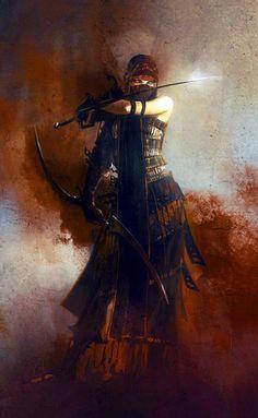Arabesque female warrior. Oh myyy.