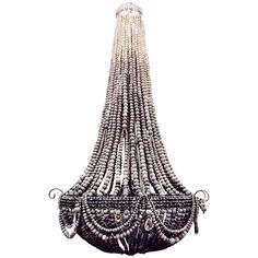 Clay Beaded Elongated Ombre Chandelier | From a unique collection of antique and modern chandeliers and pendants at https://www.1stdibs.com/furniture/lighting/chandeliers-pendant-lights/