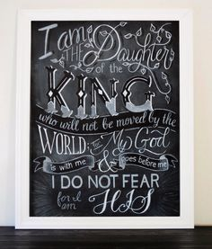 Chalkboard PRINT I Am the Daughter of The by ColorandDustStudios
