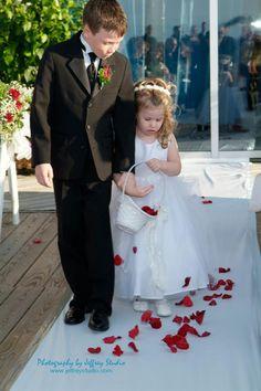 A gorgeous #wedding at Crescent Beach Club! #Liweddingplanners #longisland #eventplanners #lighting #linens #tablesetting #beachwedding #flowers #centerpieces #crescentbeachclub #bride #flowergirl