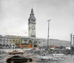 Time-Warp Photos Show Cities In the Past and Present: The Ferry Building (after…