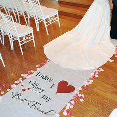 Classic Aisle Runner. This is so unique elegant Im getting this for my ceremony.