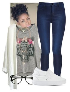 Untitled #572 by trinsowavy on Polyvore featuring J Brand, Vans and H&M