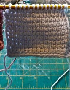No-roll Tunisian crochet! Just made a very small test and it seems to work. At least it's better than the normal way. Will use again.