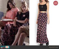 Hanna's floral maxi skirt on Pretty Little Liars.  Outfit Details: http://wornontv.net/45483/ #PLL