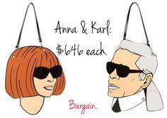 Anna Wintour & Karl Lagerfeld bags by Yazbukey