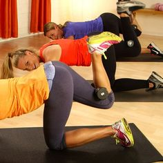 booty blaster! Wow, never realized how weak my backside is until I tried this and it's only 10 minutes.....10-Minute Tush-Toning Pilates Workout