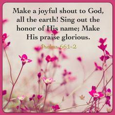 Psalms 66:1-2