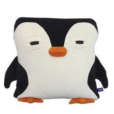Penguin pillow by Velvet Moustache. A snuggly, sleepy penguin.