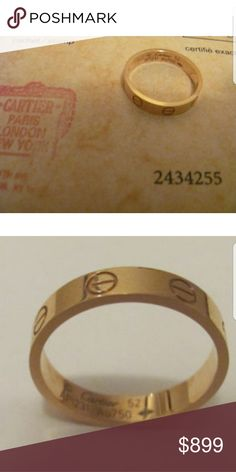 Cartier LOVE Ring SZ US 6 Yellow Gold Authentic Cartier Love Ring - US SZ 6... yellow gold... worn once...perfect condition..  Make offer... No trades... pp only email me if you have any questions:) Cartier Jewelry Rings