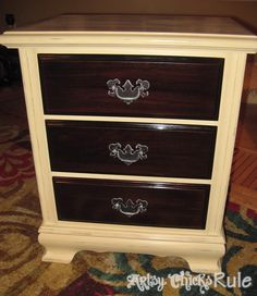 Super Easy Way to Transform & Update Wood Stained Furniture - Artsy Chicks Rule