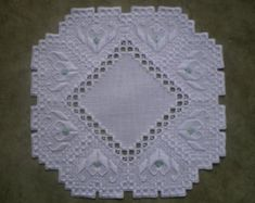 Beautiful Norwegian Hardanger Centerpiece with solid от MnMom23