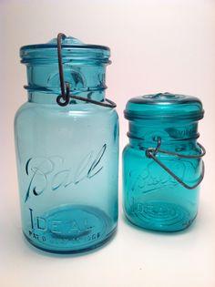 Aqua Ball Jars. Old and New