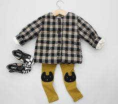 Lea Gingham Padding Jacket