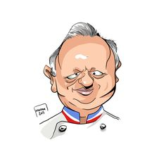 Chef Joël Robuchon - Kadran, caricature, illustration, cartoon, press, cartoons, caricatures, dessin de presse