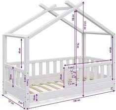 Toddler Floor Bed, Toddler House Bed, Diy Toddler Bed, Toddler Rooms, Little Girl Bedrooms, Big Girl Rooms, House Beds For Kids, Kid Beds, Kids Bedroom Designs