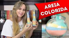 Como Fazer Areia Colorida para Decorar Potes e Garrafas - Artesanato - F... Diy, Craft Ideas, Crafts, Vase Crafts, Colored Sand, Paper Scraps, Craft Videos, Easy Crafts, Plants