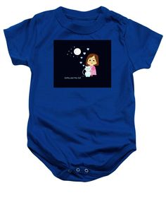 Purchase a baby onesie featuring the image of Cathy And The Cat At Night by Laura Greco.  Available in sizes S - XL.  Each onesie is printed on-demand, ships within 1 - 2 business days, and comes with a 30-day money-back guarantee.