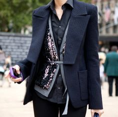 Layered with sequins