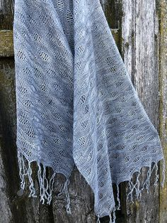 Ravelry: Scarf Shangri La pattern by Inna Voltchkova Long Fringes, Summer Knitting, Shangri La, Needles Sizes, Ocean Waves, Ravelry, Knitting Patterns, Silk, Blanket