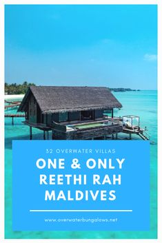 Maldives Water Villa, 5 Star Resorts, Overwater Bungalows, Resort Villa, Island Nations, One And Only, Cabin, House Styles, Cabins