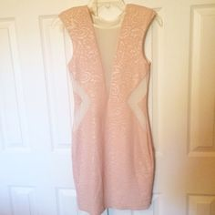 PINK MESH DRESS Brand new! Size small mesh is totally see through  **remember to bundle and save 10%** no holds/trades Arden B Dresses Mini