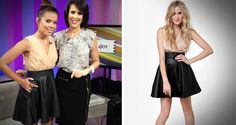 Beatriz Luengo looked spectacular today in NotiMujer CNN ... We love her dress and I am pretty sure you too... Where to get it? Simple en @lulus Leather and Lady Black and Beige Vegan Leather Dress ... ENJOY