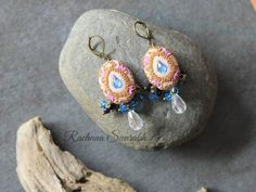 Shades Of Purple, How To Make Beads, Bead Art, Teal, Blue, Floral Embroidery, Bold Colors, Antique Gold, Favorite Color
