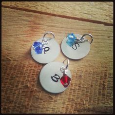 Sterling Silver Initial Charms Initial by TheLittleBrokenWing, $14.00