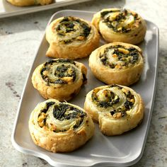 I'm enthralled with spanakopita, and this spinach and feta pinwheel recipe was a quick and easy way to enjoy it. I have used this for teacher get-togethers and family events. Appetizer Sandwiches, Appetizer Recipes, Appetizers, Vegetarian Greek Recipes, Spinach Puff Pastry, Pinwheel Recipes, Spinach And Feta, Frozen Spinach, Cauliflower Dishes