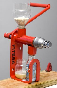 Hand powered oil press. Press your own oil from most any seed etc.