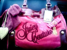Pretty pink and purple Juicy Culture bag