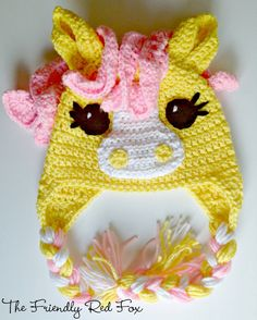 The Friendly Red Fox: Free Crochet Little Pony Hat Pattern in Four Different Sizes!