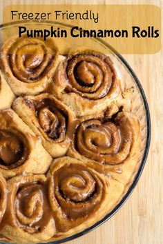 Pumpkin Cinnamon Rolls Recipe ~ part of our 31 Days of Freezer Friendly Recipes | 5DollarDinners.com