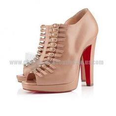Beige Booties Manon 120mm Christian Louboutin Is On Hot Sale Here!