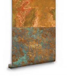 Bronze & Copper Metal Wallpaper from Milton & King