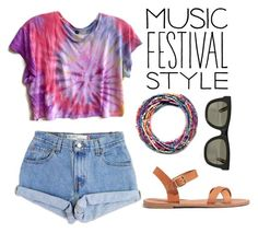 """""""Tie-Dye Festival Style"""" by emma-545 ❤ liked on Polyvore featuring Madewell, RetroSuperFuture, Levi's, contestentry and musicfestivalstyle"""