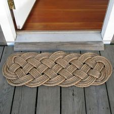 Mystic Knotwork: Manila Rope Woven Door Mat Rug, Prolonged Knot on #marthastewart #americanmade #newengland woven mat