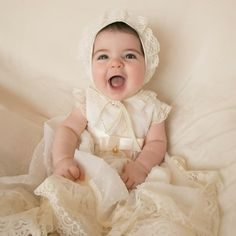 Girls Dresses, Flower Girl Dresses, Cool Outfits, Wedding Dresses, Clothes, Fashion, Layette, Baskets, Christening