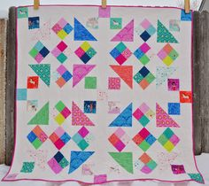 Porch Swing Quilts Pdf Patterns, Quilt Patterns, Bright Quilts, Quilt Material, Michael Miller Fabric, Quilt Sizes, Porch Swing, Fabric Art, Quilting Projects