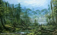Carboniferous flora, by Christian Jegou and Ludek Pesek