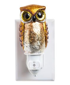 Add woodsy cheer to home décor with this unique owl-shaped night-light. Wise Owl, Nightlights, Things To Buy, Light Up, Crafty, My Favorite Things, Unique, Gold, Sunflowers