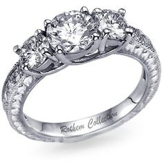 Love 3 stone engagement rings