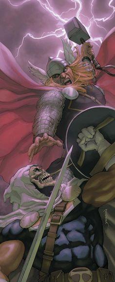 Thor vs Taskmaster by David Yardin
