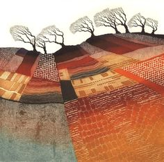 Windswept Trees by Rebecca Vincent