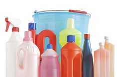 detergent bottles and bucket Photos Colored plastic detergent bottles with bucket isolated on white background with clipping path by Antonio-S Spring Cleaning Organization, Organization Hacks, Household Cleaners, Household Items, Household Hazardous Waste, Lava, Detergent Bottles, Antibacterial Soap, Recycling