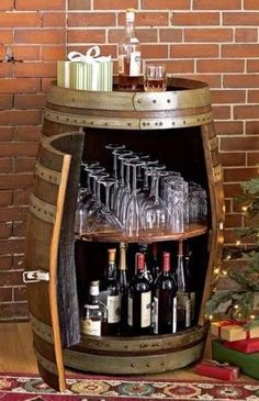12 Ideas para decorar con barricas de vino                                                                                                                                                      Más