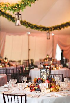 Getting Lovely Wedding Centerpieces: The Options For Effective Simple Wedding Decorating Solutions - Pamela Custodio Fruit Centerpieces, Wedding Table Centerpieces, Table Decorations, Centerpiece Ideas, Centerpiece Flowers, Wedding Decorations, Round Wedding Tables, Wedding Reception Tables, Round Tables