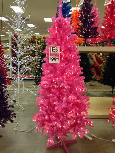 Lovely $99.99 Hot Pink Pre Lot Christmas Tree From Garden Ridge Pottery