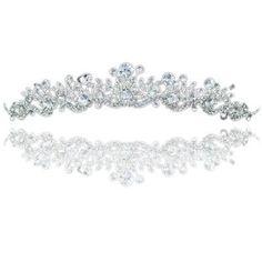 Braut Virbel Funkelnd Silber Hochzeit Prom Abschlussball Diadem Tiara - http://schmuckhaus.online/preciousyou/braut-virbel-funkelnd-silber-hochzeit-prom-tiara